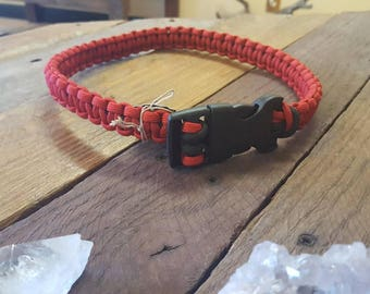 Red Paracord Pet Collar