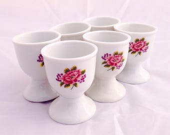 Vintage egg cups, german egg cups, Home and Living, Kitchen and Dining, porcelain egg cups, collectible egg cups, Vintage Egg Cups