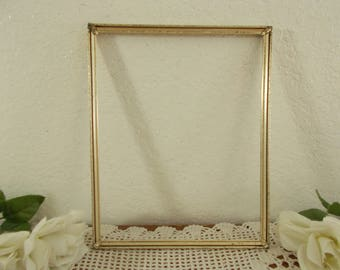 Vintage Silver Picture Frame 8 x 10 Photo Decoration Mid Century Hollywood Regency Shabby Chic Cottage Retro 1950 Home Decor Wedding Gift