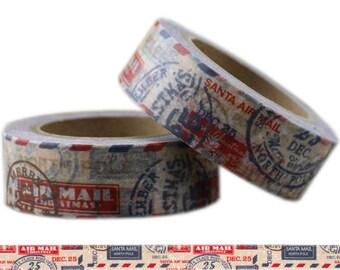 Washi Tape SANTA AIR MAIL