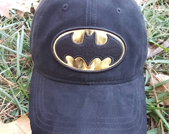 Vtg BatMan DC Comics Dad Hat strapback hat curved brim