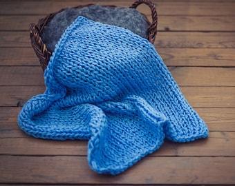 chunky blanket prop/newborn photo layer/baby props blanket/photography blanket/baby photo prop/blanket prop/chunky blanket/knit blanket/prop