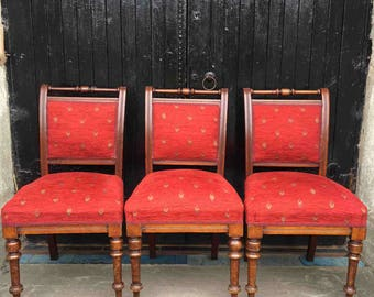Set of 3 Late Victorian Mahogany Chairs