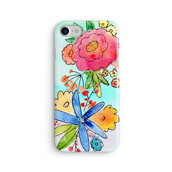 Flower bloom watercolor  iPhone X case - iPhone 8 case - Samsung Galaxy S8 case - iPhone 7 case - Tough case 1P063