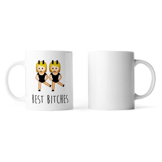 Best b*tches large emoji mug - Funny mug - Rude mug - Mug cup 4P035