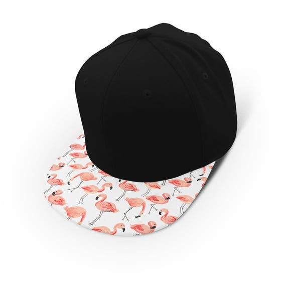 Flamingos everywhere watercolor snapback cap - hat - baseball cap 5P005