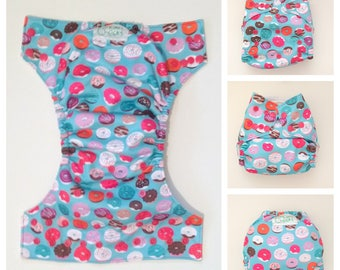 Cloth Diaper, Cloth Nappy, Baby Diaper, Donuts, Donut Diaper, Fitted Diaper, All In One, AIO, Diaper Cover, Pocket Diaper