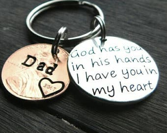 Custom Penny From Heaven Memorial Keychain, Gift, Child, Son, Daughter, Grief, Grandma, Dad, Mom, Sister, Brother, Husband,Grandpa,Friend