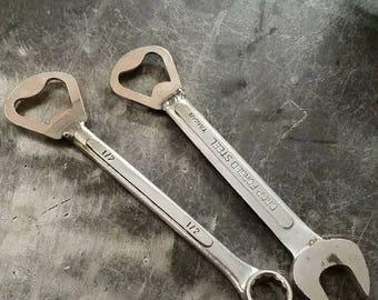 Wrench bottle opener
