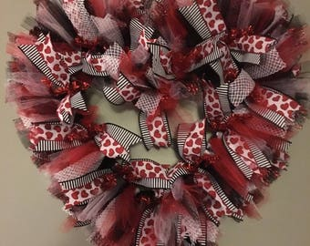 Valentine's Day Heart Wreath