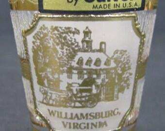 Culver Shot Glass 22KT Williamsburg Virginia Souvenir Original Label