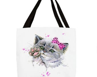Pink Bow Kitty  Tote