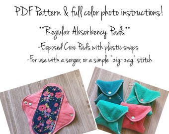 Sew-It-Yourself DIY Reusable Cloth Pads Sewing Pattern-Regular Absorbency Pads