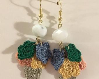 Rainbow Flowers Earrings