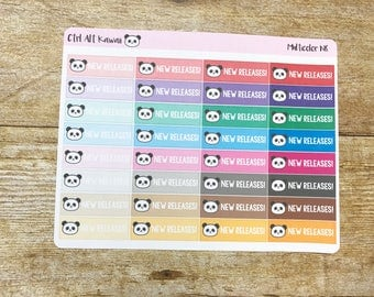 Ctrl Alt Kawaii Multicolor New Releases Planner Stickers