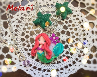 Necklace with little Mermaid Ariel Princess Gift Idea