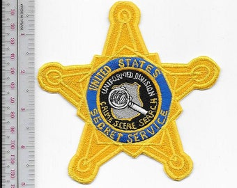 US Secret Service USSS Crime Scene Search Uniform Division Gold Star Badge Patch