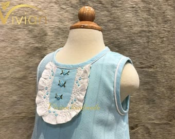 A lined cotton dress for girl