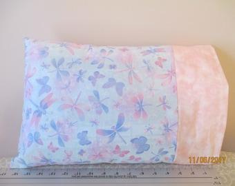 Dragonflies and Butterflies Travel Size Pillow Case