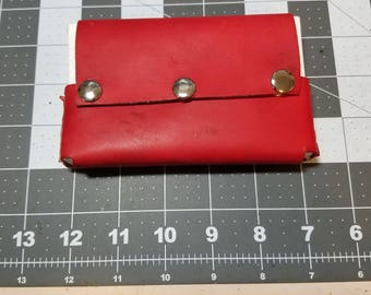 Custom Leather Index Card Pouch