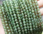 Green Kunzite, Lithia Emerald, Spodumene Beads, Round beads, Natural Gemstones, rare gemstones, 5mm-6mm