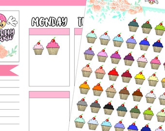 Icon Cupcake Stickers (11)