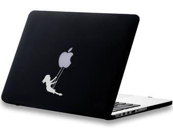 Swinging Playground Girl - Macbook Decal | Laptop Decal | Sticker | Fun | Vinyl Decal | Relaxing Time