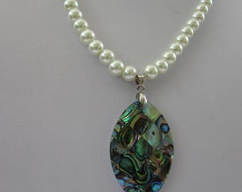 Pearl and Shell Pendant