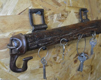 Horse Harness Wood Key Holder, Antique Carriage, #465