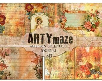 AUTUMN SPENDOUR  full size Journal Kit INSTANT Download
