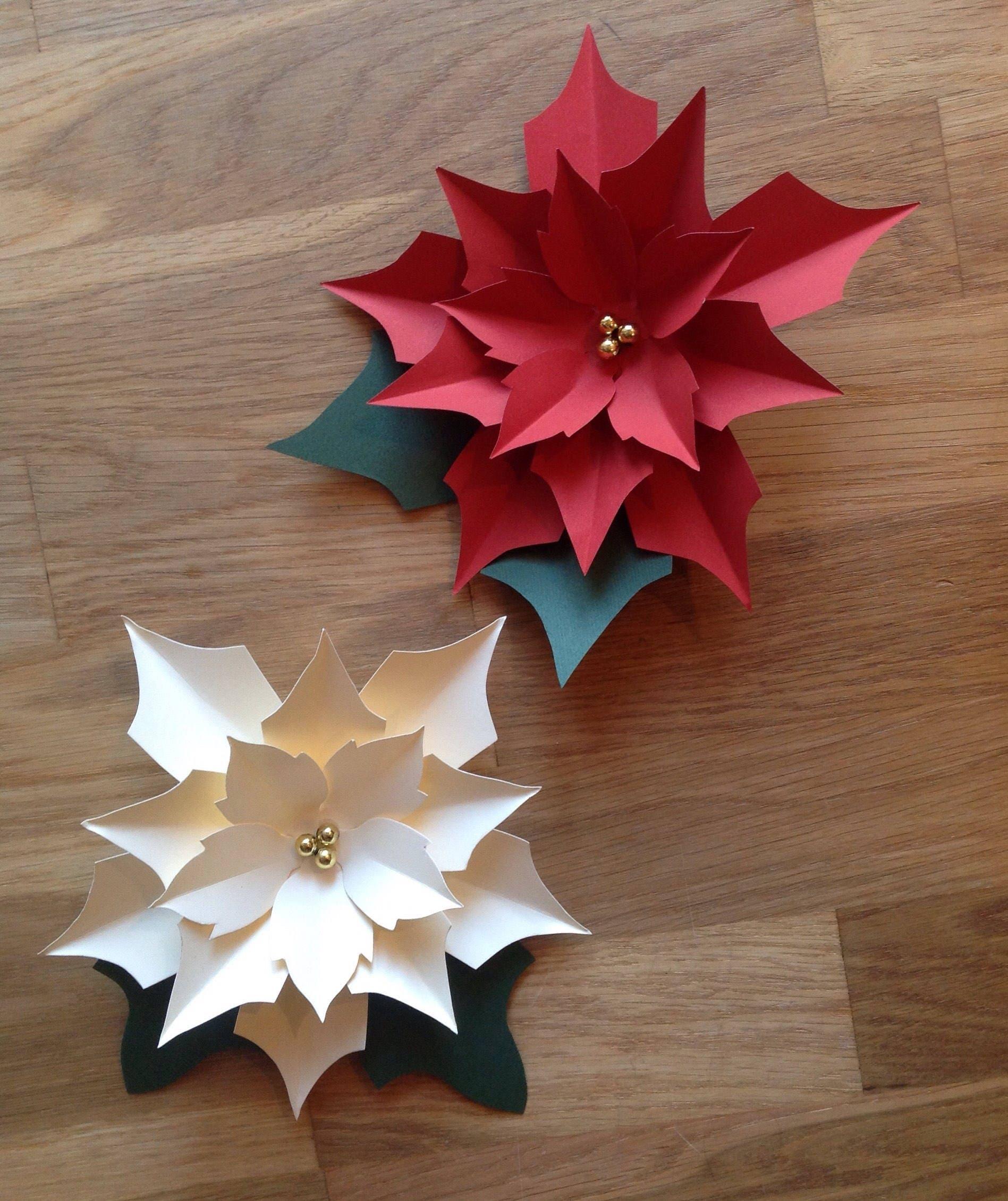 Paper flower christmas decorations kubreforic paper flower christmas decorations mightylinksfo