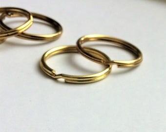 Gold Metal Split Key Ring Keychain Ring , double key chain ring , 28mm key chain split ring, connector ring