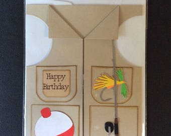 Birthday fishing vest