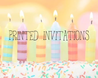55+ PRINTED INVITATIONS/CARDS (envelopes included)