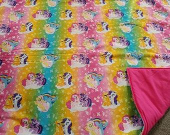 My little pony blanket.