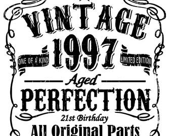 Vintage - 21st birthday - svg, pdf, png file