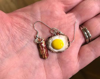 Bacon and Egg Earrings