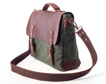 Canvas Laptop Bag Man Men Bag Waxed Canvas Bag Men Laptop