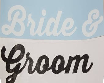 Bride & Groom decal