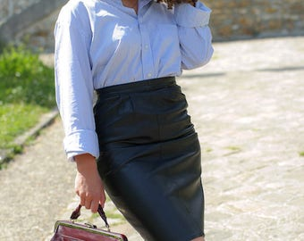 Vintage 90's Leather Skirt