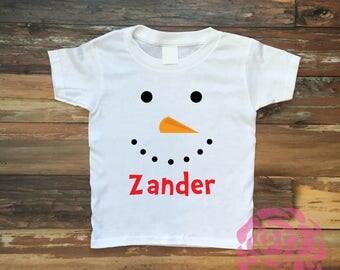 Snowman Shirt, Childrens Christmas Shirt, Kids Christmas Shirt, Christmas Shirt, Boys Christmas Shirt, Christmas Tee, Kids Christmas Tee