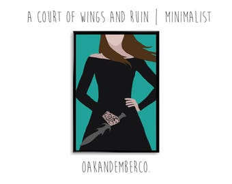 A Court of Wings and Ruin Minimalist Poster