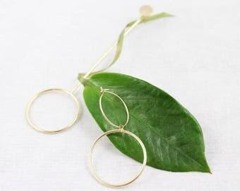 Asymmetry Dangle Drop Earrings