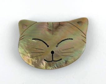 Cat Needle Minder, Cat Needle Keeper, Small Cat Magnet, Shell Cat Magnet, Shell Needle minder, Cat Shell Magnet Needle Keeper