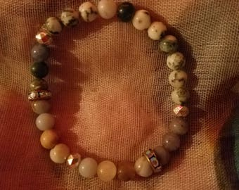 Crystal beaded bracelet for self discovery of self, stress relief and emotional balance