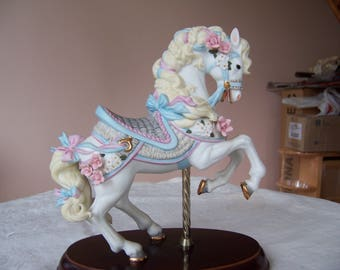 Vintage 1987 Lenox Porcelain Carousel Horse with COA - Excellent Used Condition