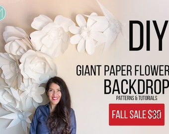 Giant Paper Flowers - Patterns + video tutorials (pdf, svg and png files)