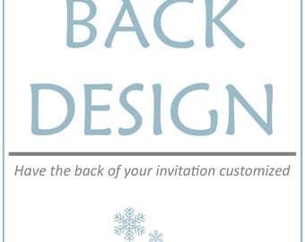 Add a Backside Design to your printable invitation, Add On Item
