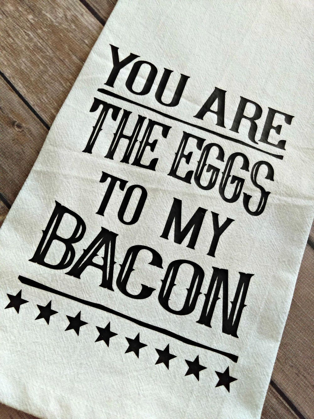 Funny Kitchen Decor, Farmhouse Decor, Bacon and Eggs, Kitchen Towel ...