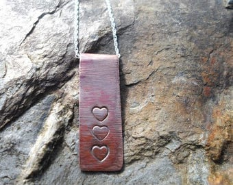 Copper Heart Pendant